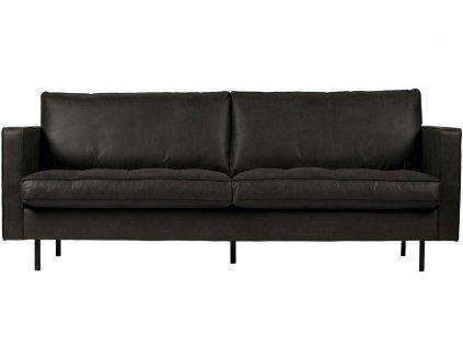 Černá čalouněná pohovka Raden 230 cm z regenerované kůže