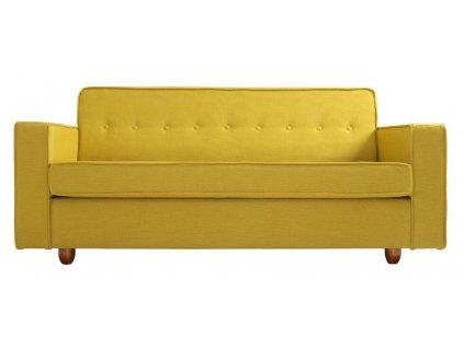 Žlutá látková třímístná pohovka Tracy 210 cm