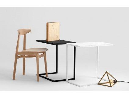Černý kovový odkládací stolek Volme 60 cm