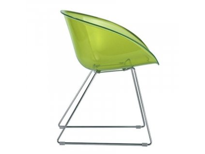 Zelená plastová jídelní židle GLISS 921