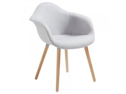 Světle šedá látková jídelní židle LaForma Kenna