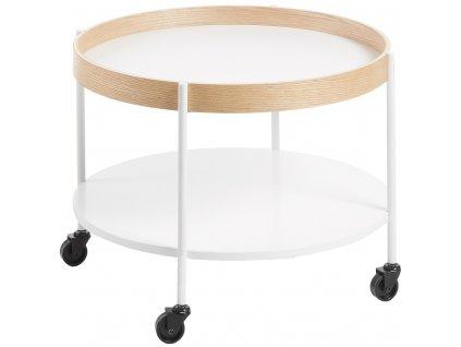 Bílý odkládací stolek LaForma Alban 60 cm