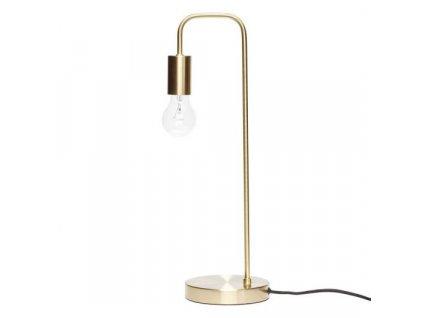 Mosazná stolní lampa Hübsch