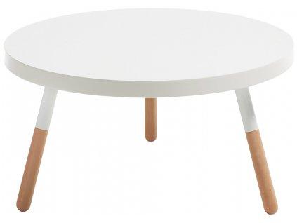Bílý kulatý konferenční stolek LaForma Brick 80 cm