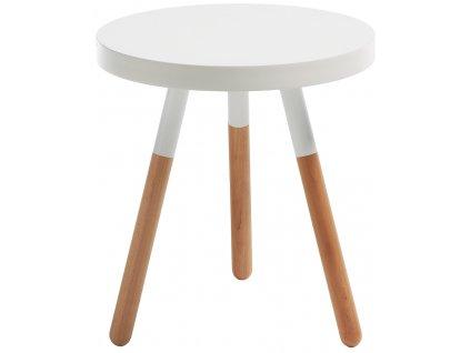Bílý kulatý odkládací stolek LaForma Brick 48 cm