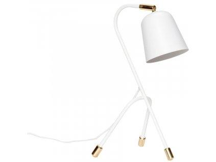Bílá kovová stolní lampa Hübsch Tripod