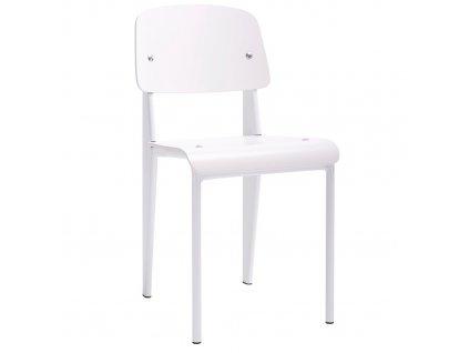 Bílá lakovaná jídelní židle Piper