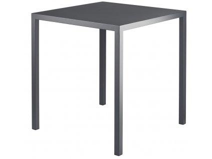 Černý kovový zahradní stůl MARA IVO 80x80 cm