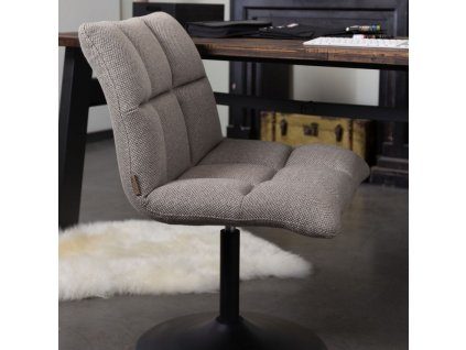 Tmavě šedá látková židle DUTCHBONE Mini Bar