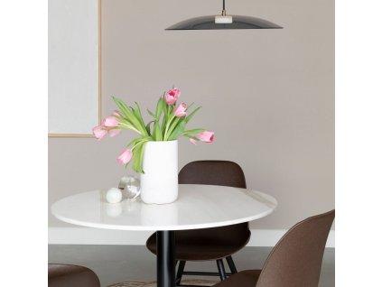 Jídelní stůl ZUIVER MARBLE KING 90 cm s bílou mramorovou deskou