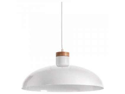 Bílé kovové závěsné světlo LaForma Margot
