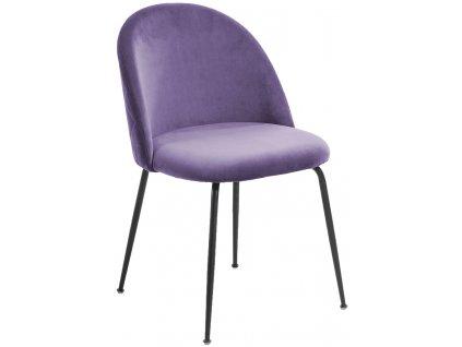 Fialová čalouněná židle LaForma Mystere