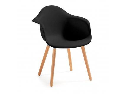 Černá plastová židle LaForma Kenna
