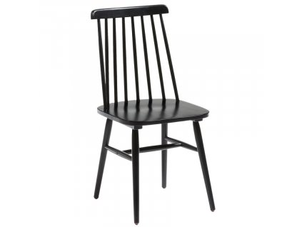 Černá dřevěná jídelní židle LaForma Kristie