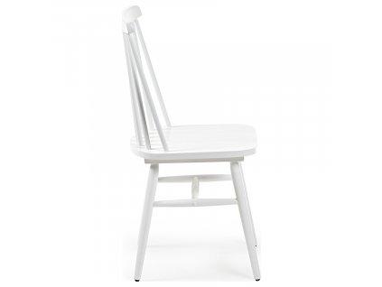 Bílá dřevěná jídelní židle LaForma Kristie
