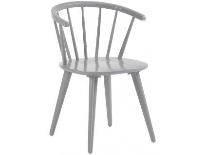 Světle šedá dřevěná jídelní židle LaForma Krise