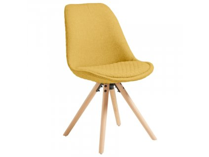 Žlutá látková jídelní židle LaForma Lars