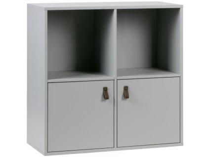 Cementově šedá dřevěná skříň Inara 81 x 35 cm