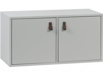 Cementově šedá dřevěná skříň Inara M 81 x 35 cm