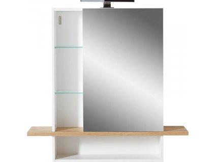 Bílá dřevěná zrcadlová skříňka 1436 GW-Novolino do koupelny