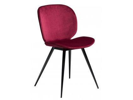 Tmavě růžová jídelní židle DanForm Cloud