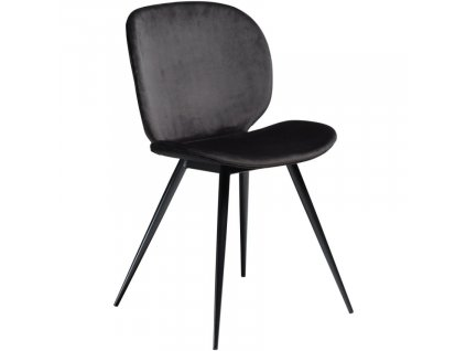 Černá sametová jídelní židle DanForm Cloud
