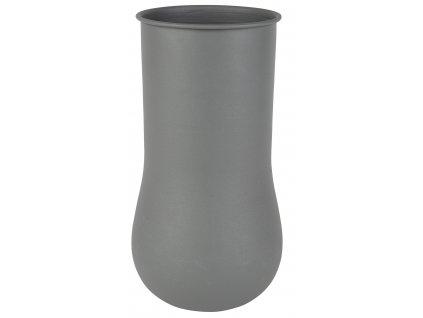 Šedá váza ZUIVER BLOB 35 cm