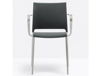 Černo stříbrná kovová židle Mya 706