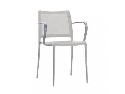 Stříbrná kovová židle Mya 706
