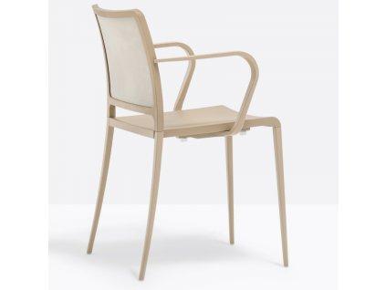 Béžová kovová židle Mya 706