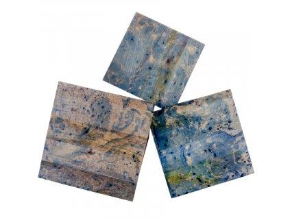 Set odkládacích stolků Nordic Living Ludwig, modrá