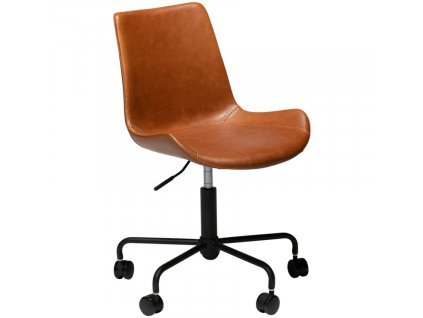 Světle hnědá koženková konferenční židle DanForm Hype