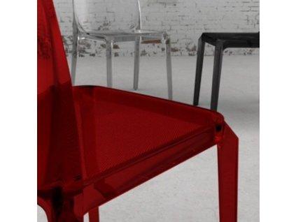Červená plastová židle Blitz 640