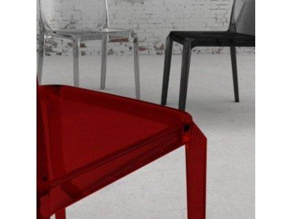 Kouřová plastová jídelní židle Blitz 640