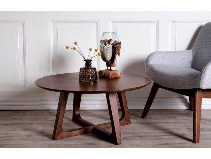 Ořechový konferenční stolek Taby 75 cm