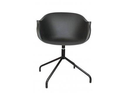 Designová černá plastová židle Duke