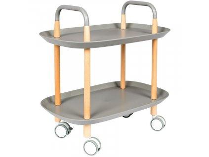 Šedý plastový odkládací stolek WLL Cruiser 57,5x37 cm