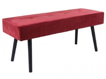 Červená čalouněná lavice Nordic Living Mekl