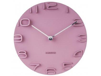 Růžové nástěnné hodiny Manto