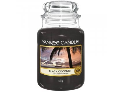 Velká vonná svíčka Yankee Candle Black Coconut