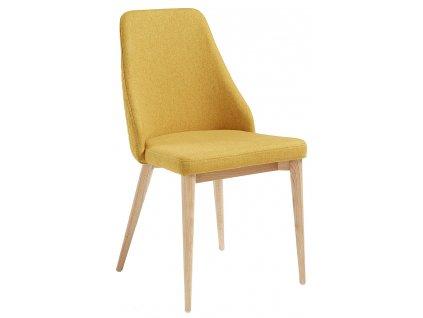 Žlutá čalouněná židle LaForma Roxie
