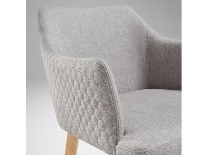 Světle šedá látková jídelní židle LaForma Danai