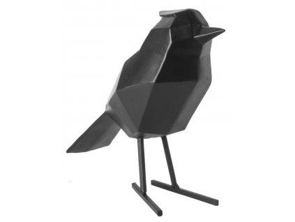 Černá dekorace Birdie L