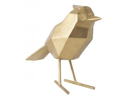 Zlatá dekorace Birdie L