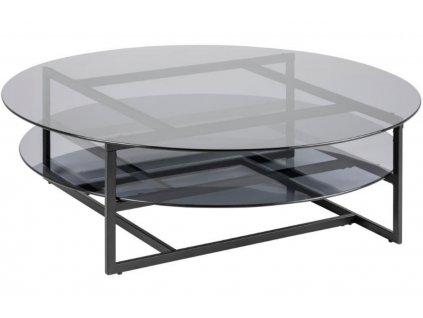 Konferenční stolek Gavon, kouřová/šedá