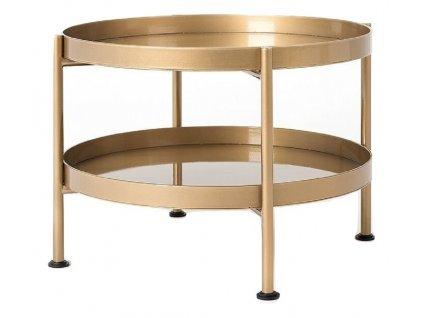 Zlatý kovový konferenční stolek Nollan 60 cm