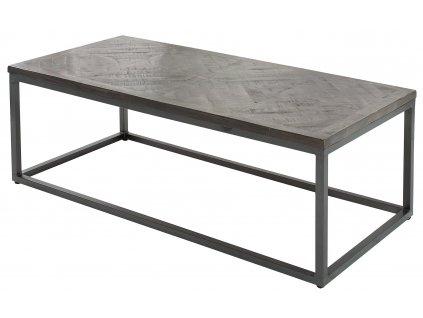 Masivní šedý konferenční stolek Wotan
