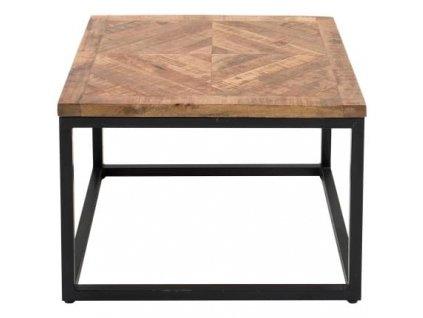 Přírodní masivní odkládací stolek Wotan