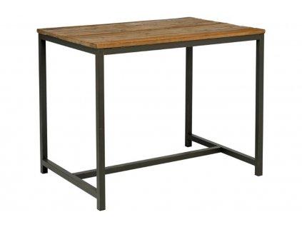 Dřevěný masivní barový stůl Kalma 130x70 cm