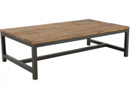 Dřevěný konferenční stolek Kalma 120x60 cm, deska z  masivního jilmového dřeva ošetřená voskem